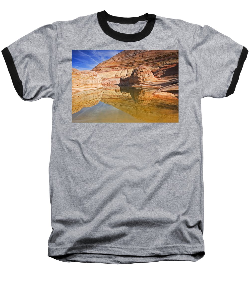 Pool Baseball T-Shirt featuring the photograph Sandstone Illusions by Mike Dawson