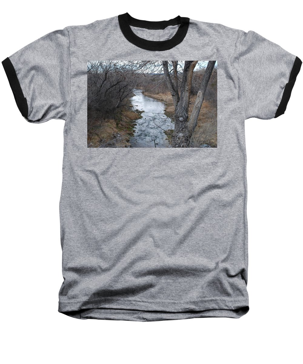 Santa Fe Baseball T-Shirt featuring the photograph Santa Fe River by Rob Hans