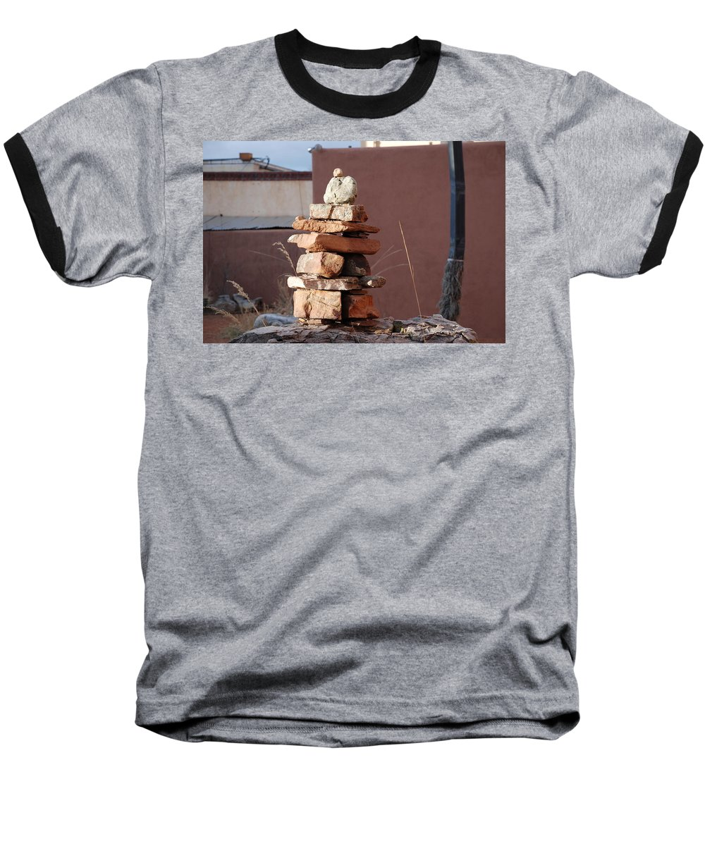 Pop Art Baseball T-Shirt featuring the photograph Sante Fe Rocks by Rob Hans