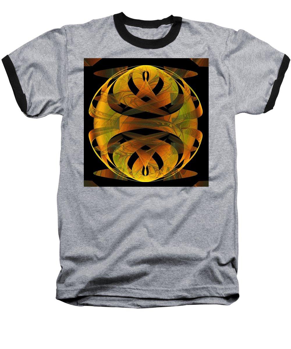 Digital Art Baseball T-Shirt featuring the digital art Scarab by Amanda Moore