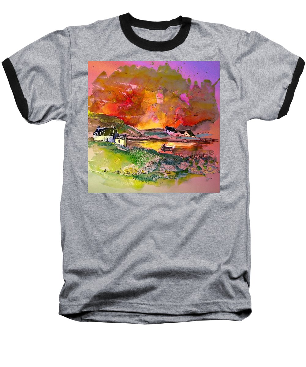 Scotland Paintings Baseball T-Shirt featuring the painting Scotland 07 by Miki De Goodaboom