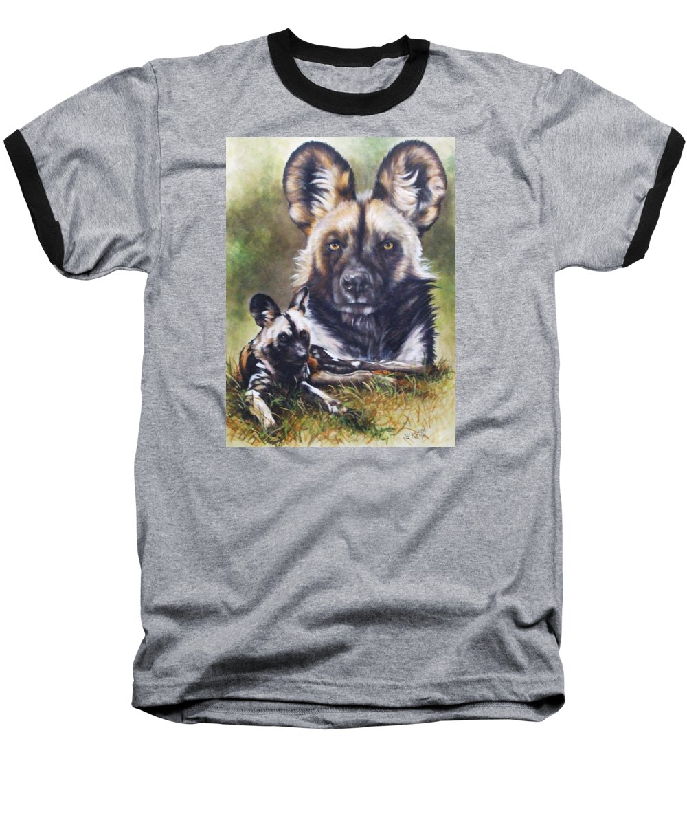 Wild Dogs Baseball T-Shirt featuring the mixed media Scoundrel by Barbara Keith