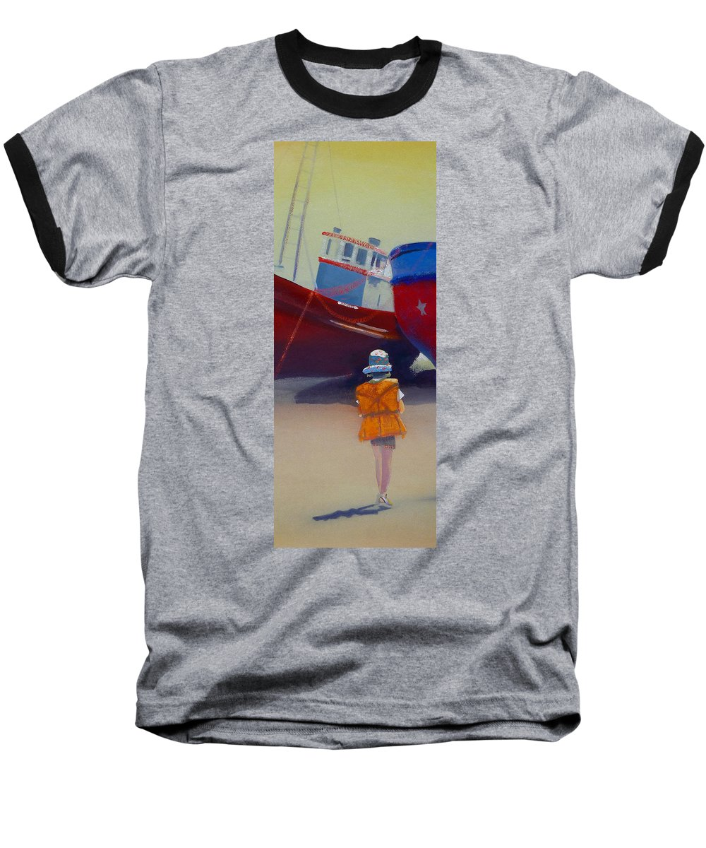 Dreamscape Baseball T-Shirt featuring the painting Sea Dreamer by Charles Stuart