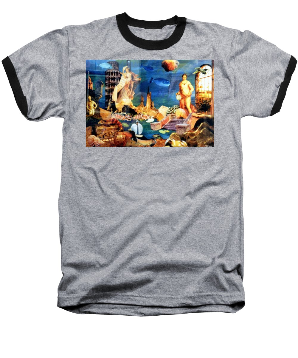 Fantasy Baseball T-Shirt featuring the painting Sea Garden by Gail Kirtz