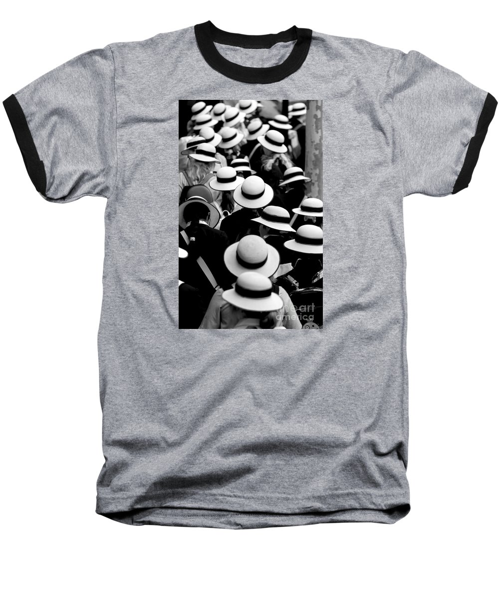 Hats Schoolgirls Baseball T-Shirt featuring the photograph Sea Of Hats by Sheila Smart Fine Art Photography