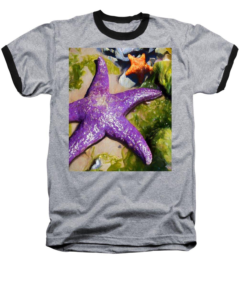 Sea Stars Baseball T-Shirt featuring the painting Sea Stars by David Wagner