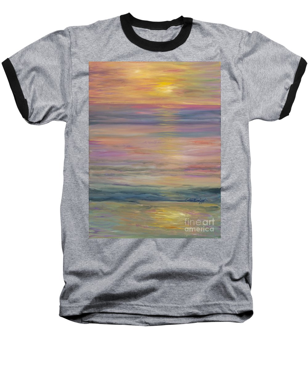 Sea Baseball T-Shirt featuring the painting Seascape by Nadine Rippelmeyer