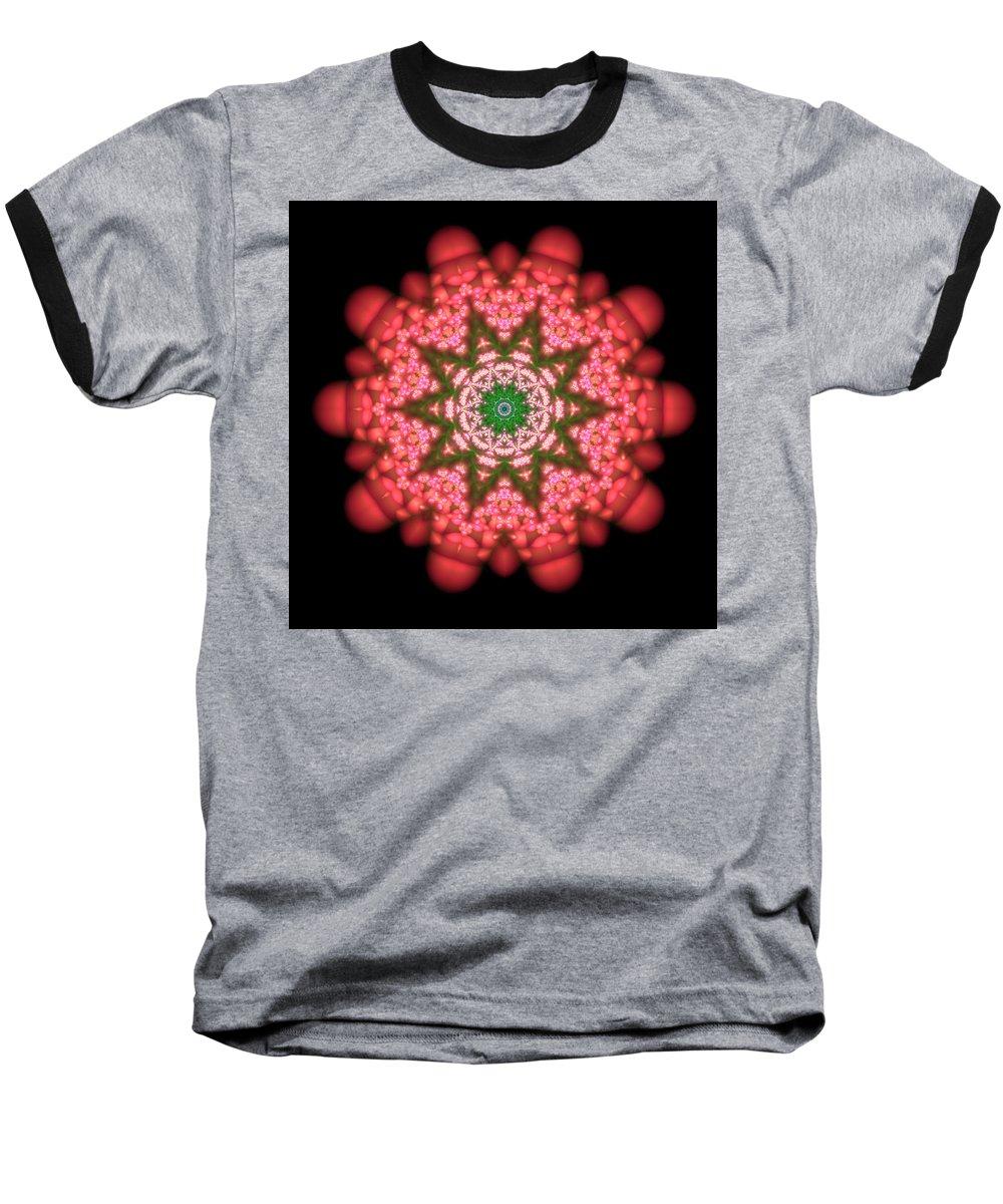 Mandala Baseball T-Shirt featuring the digital art Seastar Lightmandala by Robert Thalmeier