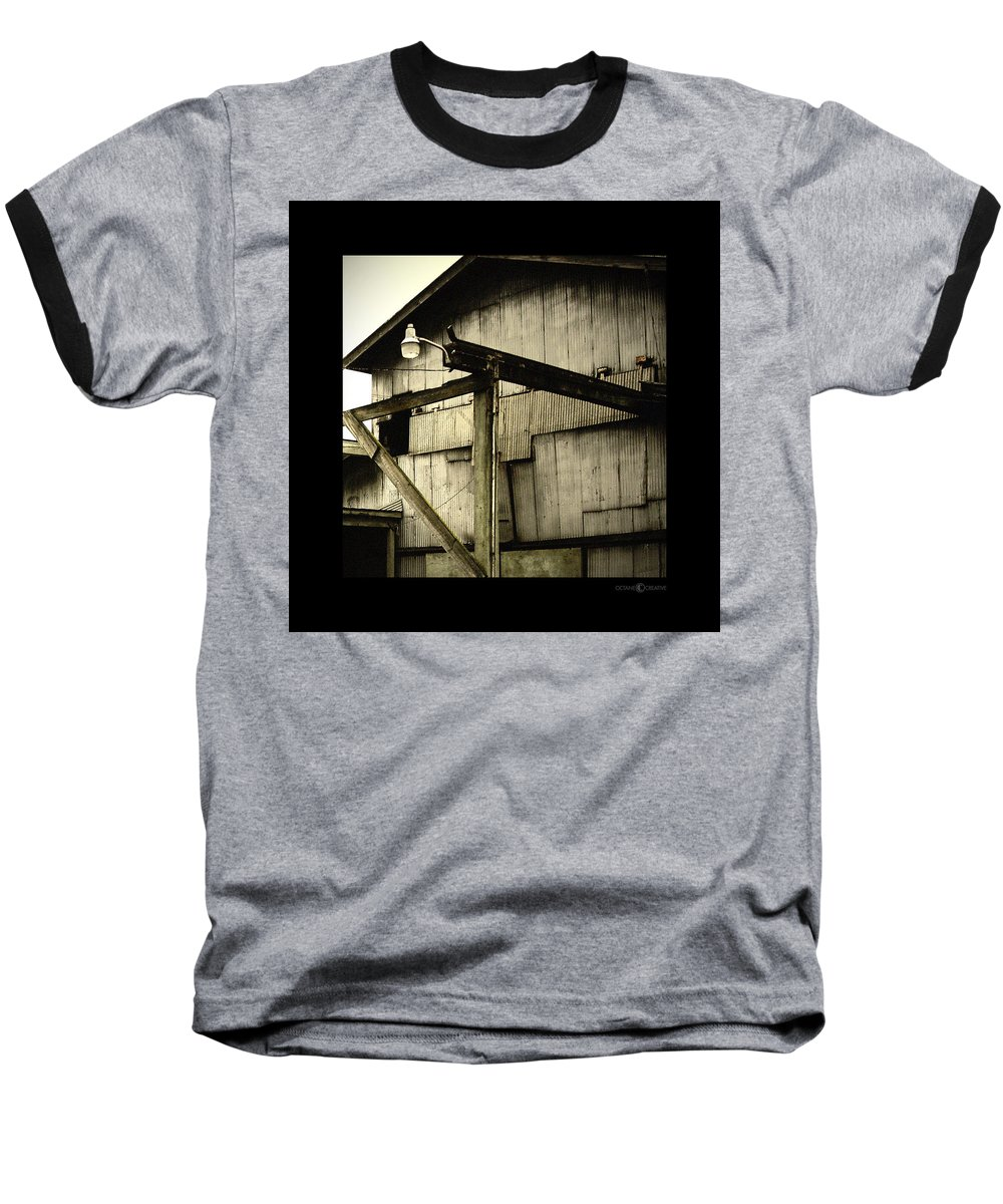 Corrugated Baseball T-Shirt featuring the photograph Security Light by Tim Nyberg