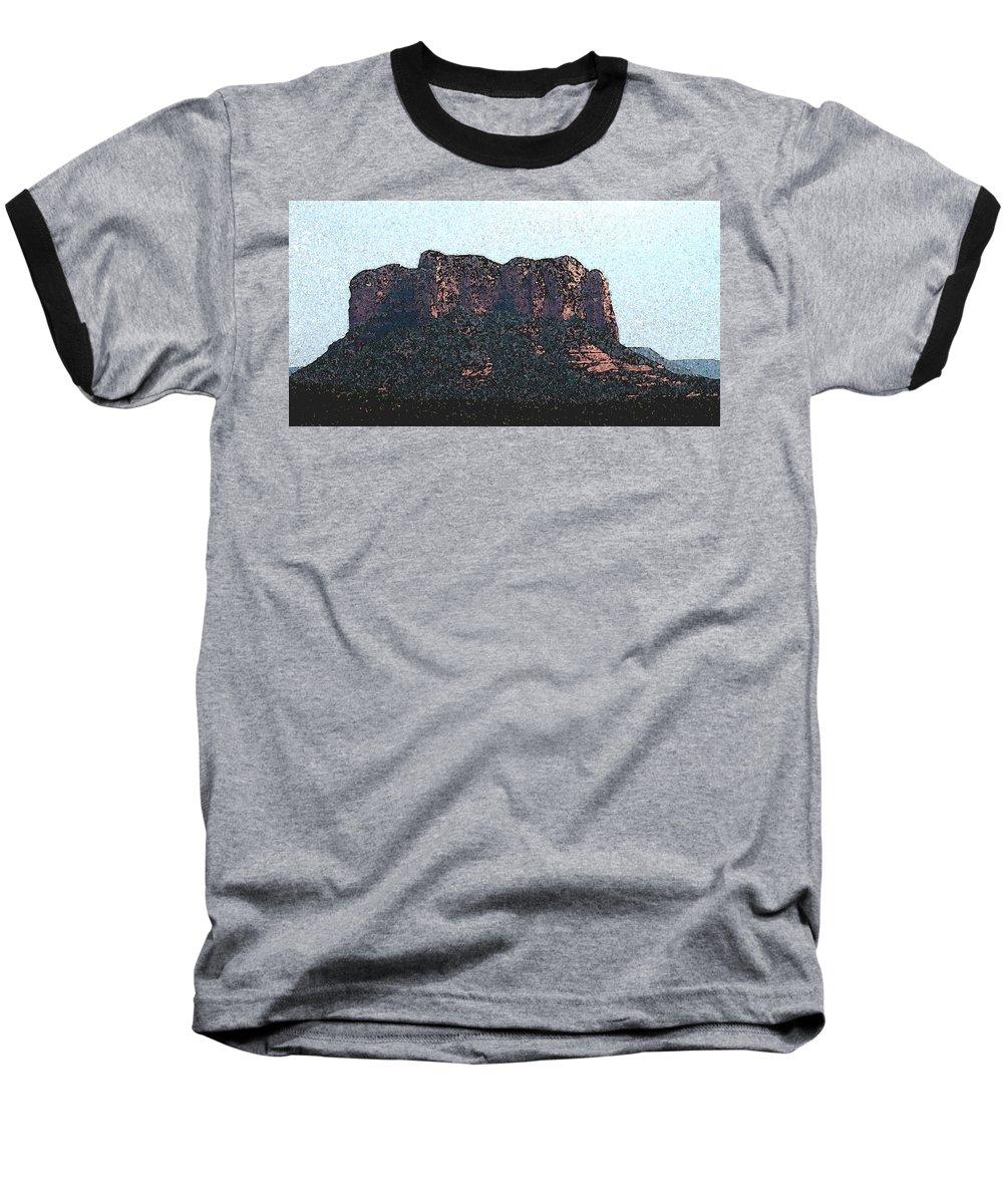 Altered Photography Baseball T-Shirt featuring the photograph Sedona Rock Formation by Wayne Potrafka