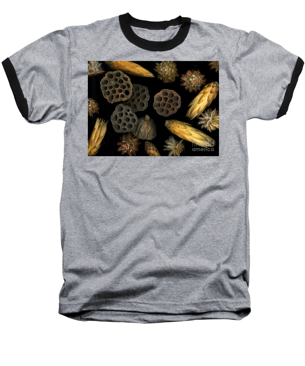 Pods Baseball T-Shirt featuring the photograph Seeds And Pods by Christian Slanec