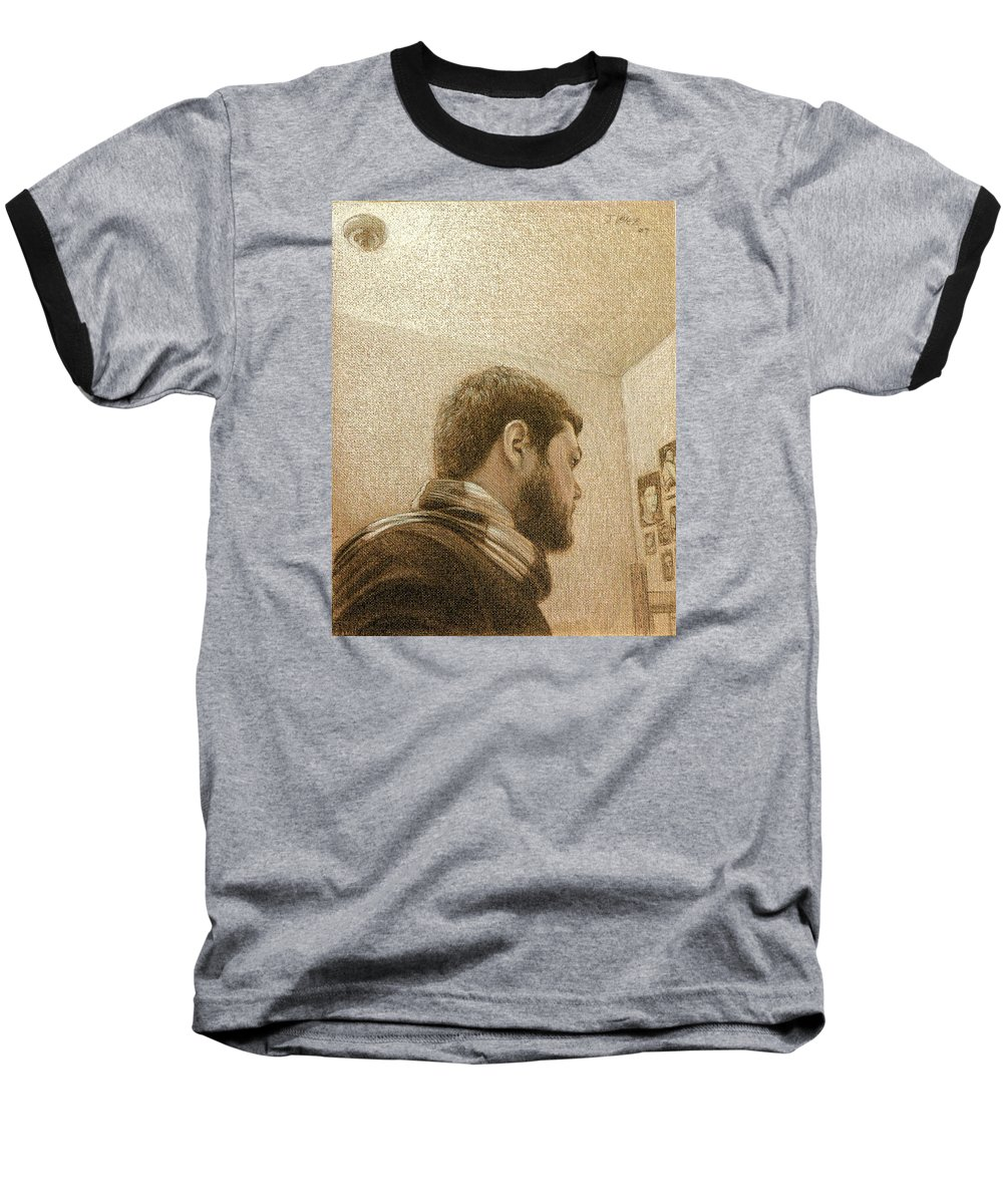 Baseball T-Shirt featuring the painting Self by Joe Velez