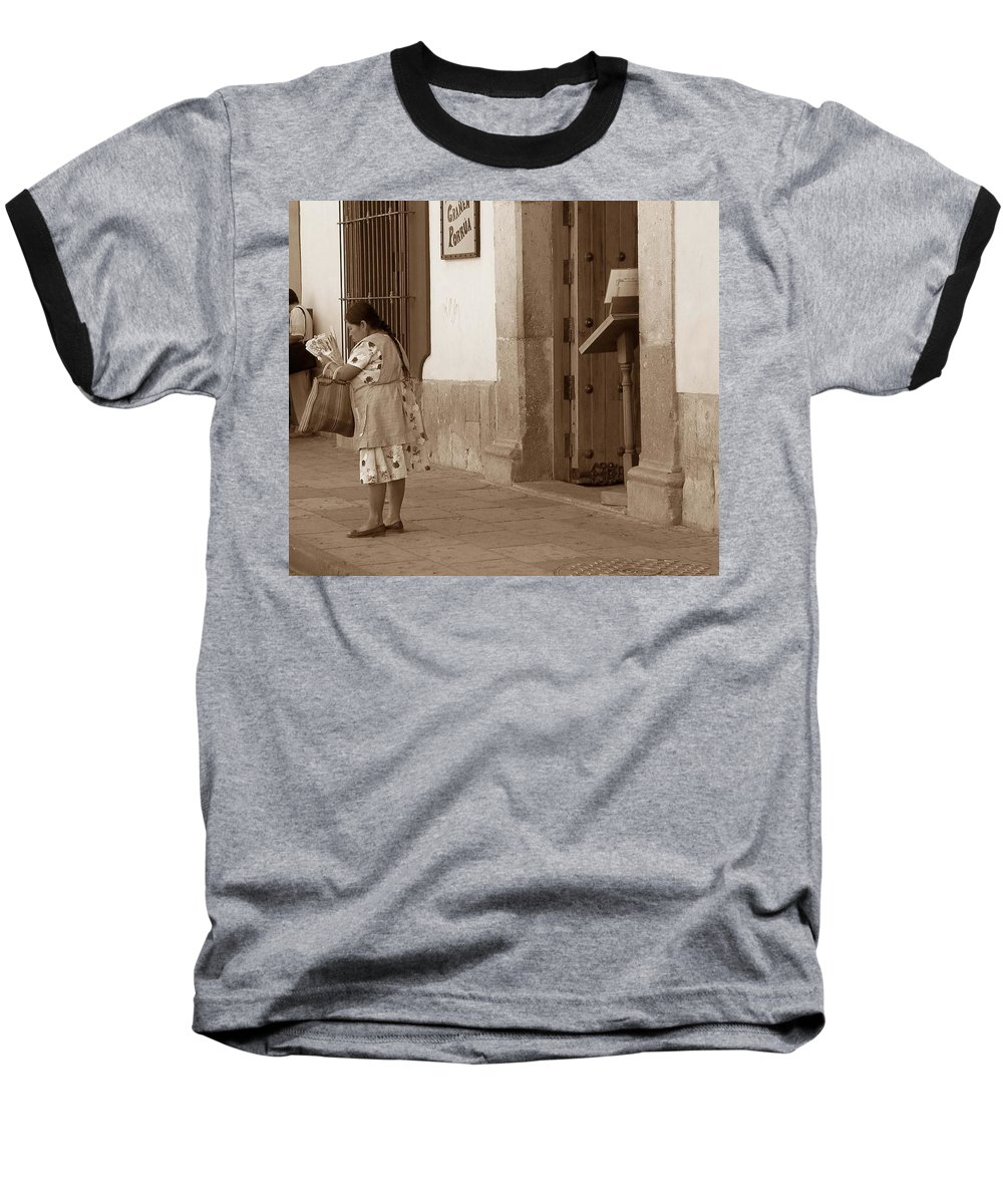 Charity Baseball T-Shirt featuring the photograph Senora by Mary-Lee Sanders