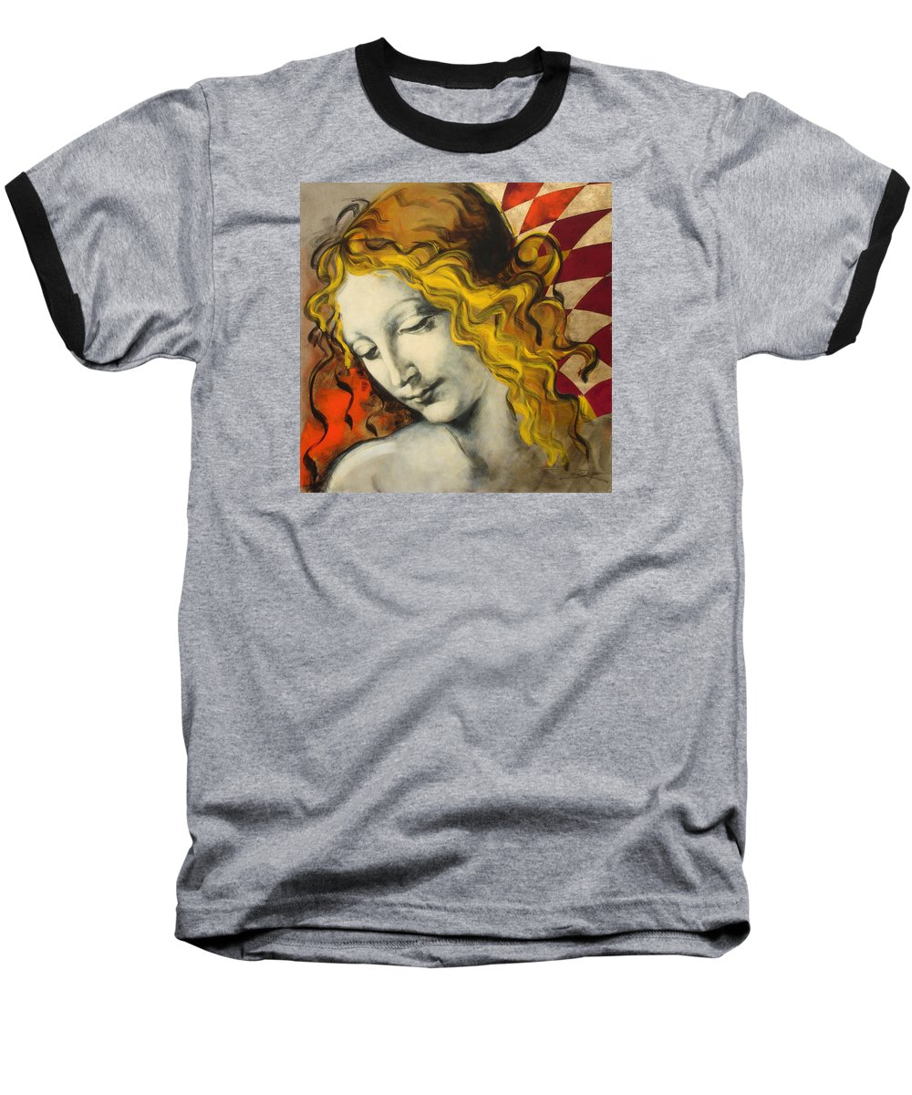 Classical Baseball T-Shirt featuring the painting Sensuali by Jean Pierre Rousselet