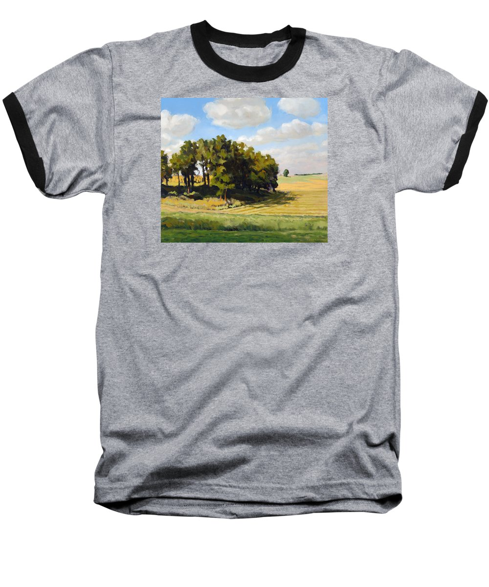 Landscape Baseball T-Shirt featuring the painting September Summer by Bruce Morrison