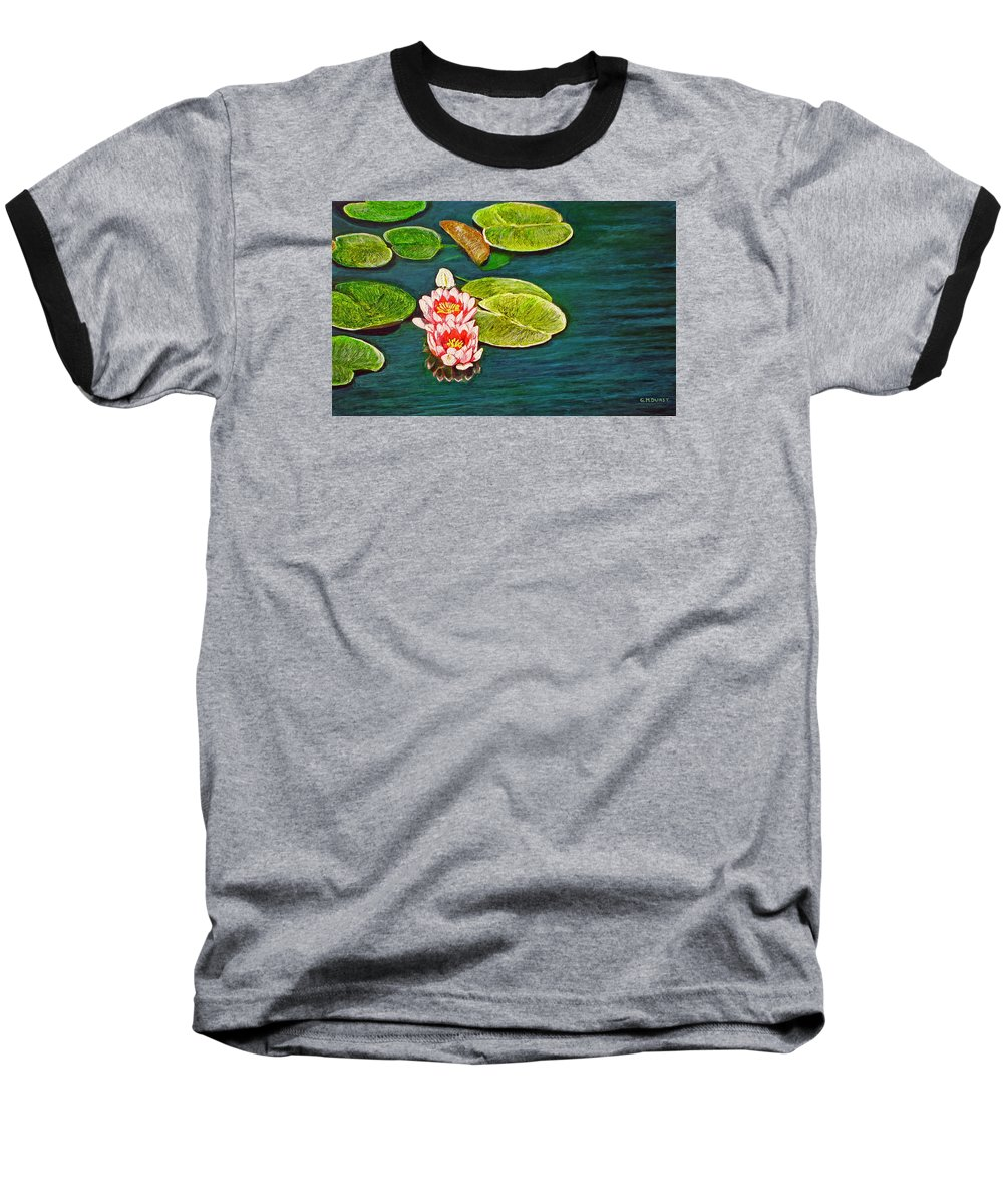 Water Lily Baseball T-Shirt featuring the painting Serenity by Michael Durst