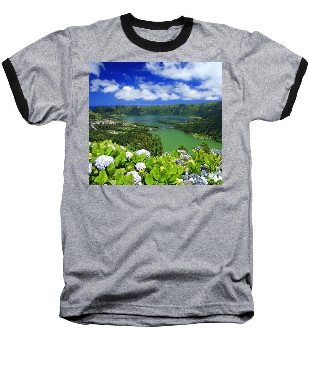 Sete Cidades Baseball T-Shirt featuring the photograph Sete Cidades Crater by Gaspar Avila