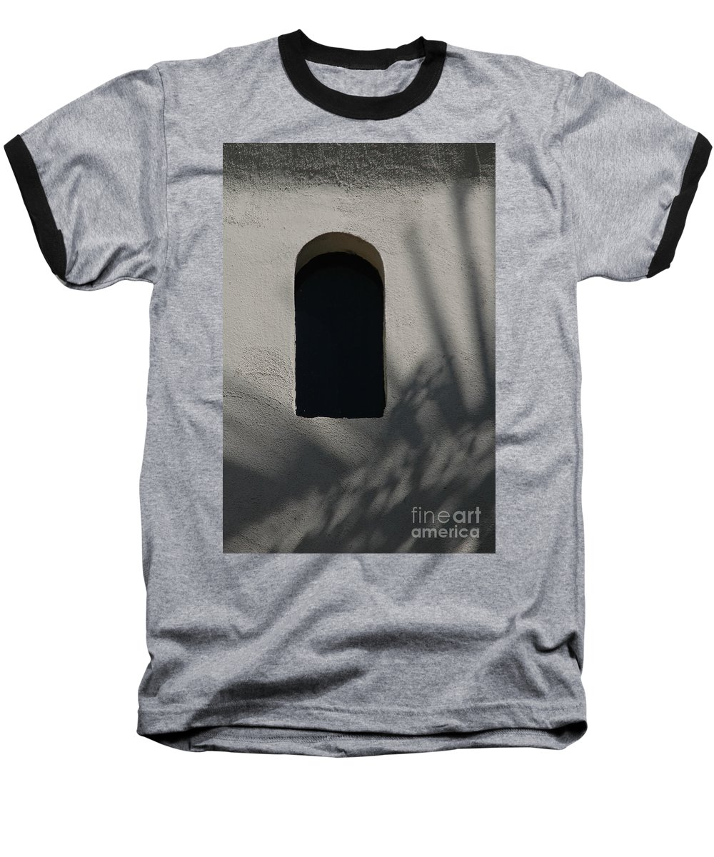 Window Baseball T-Shirt featuring the photograph Shadows On The Wall by Michael Ziegler
