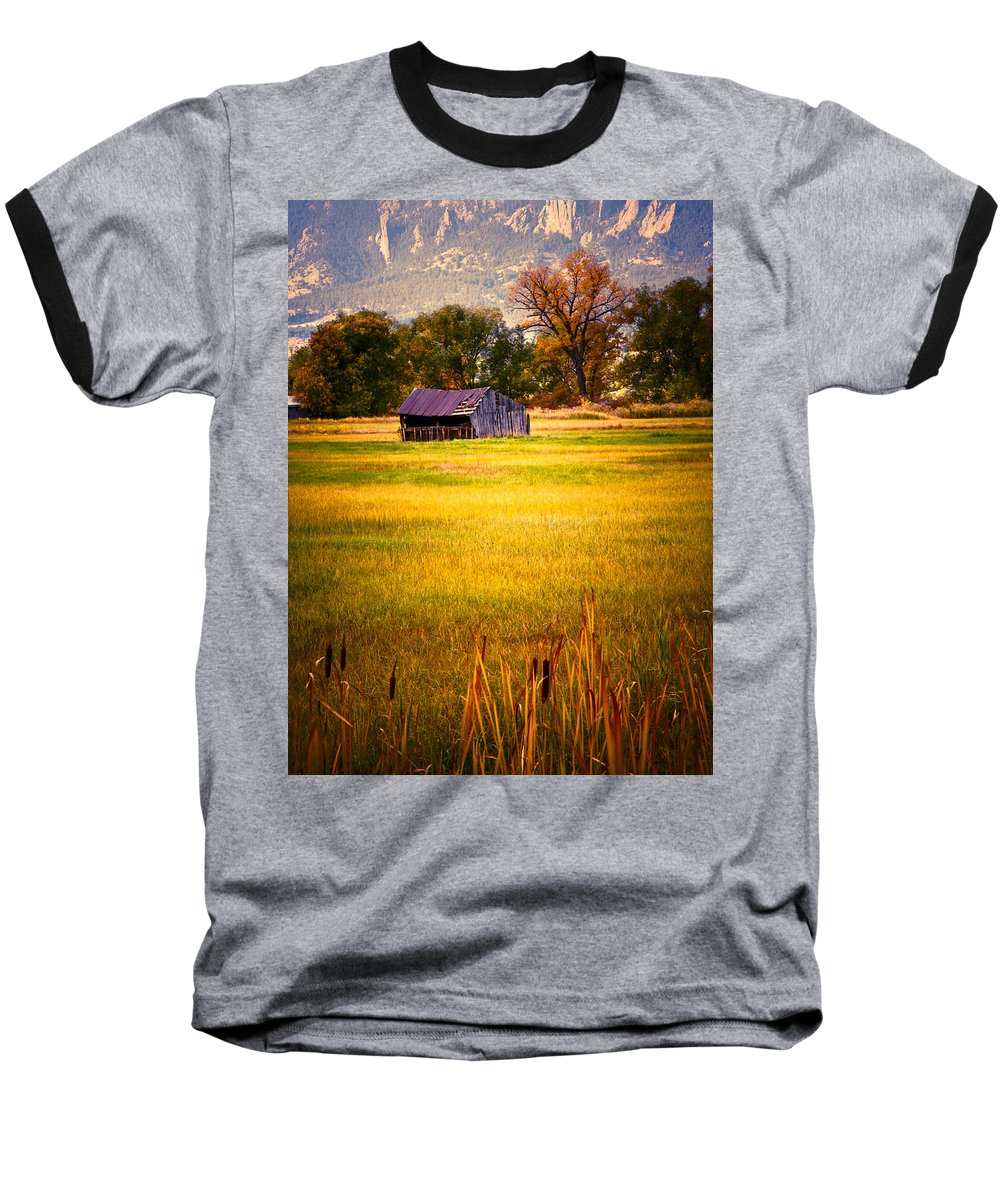 Shed Baseball T-Shirt featuring the photograph Shed In Sunlight by Marilyn Hunt