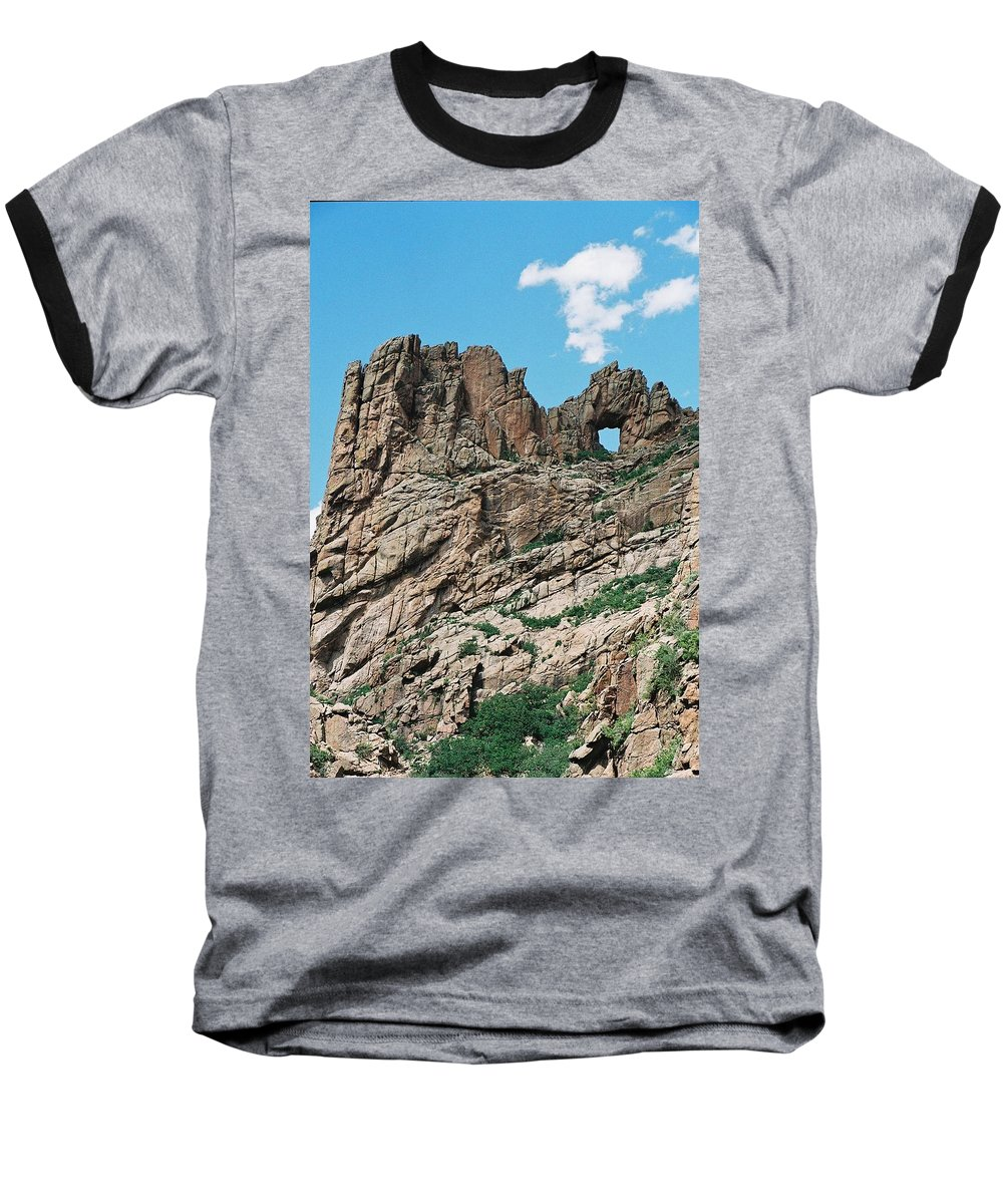 Shelf Road Baseball T-Shirt featuring the photograph Shelf Road Rock Formations by Anita Burgermeister
