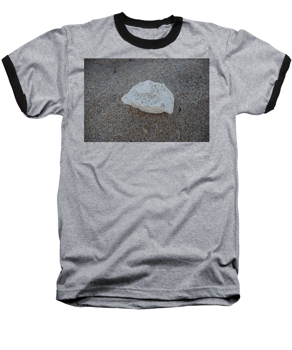 Shells Baseball T-Shirt featuring the photograph Shell And Sand by Rob Hans
