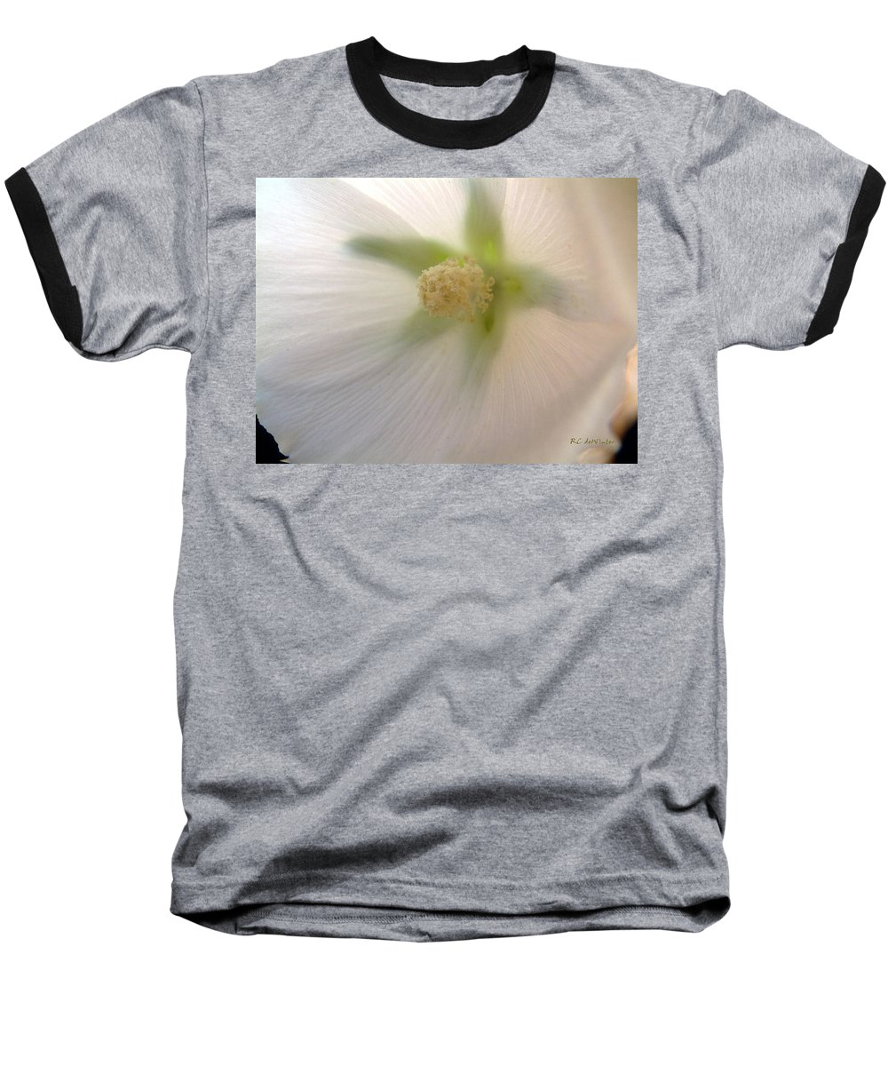 Blossom Baseball T-Shirt featuring the photograph Shimmer by RC DeWinter
