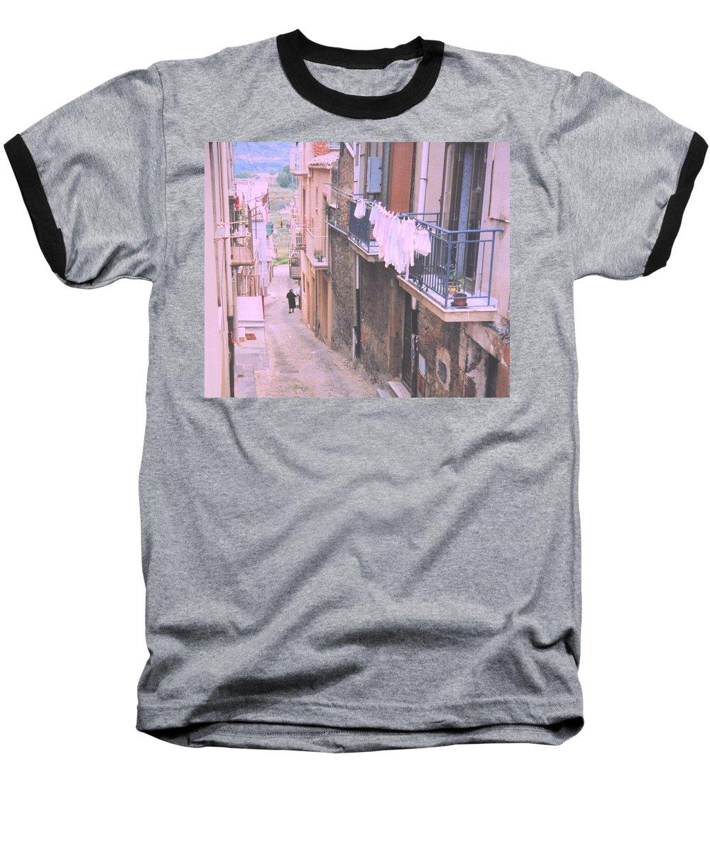 Sicily Baseball T-Shirt featuring the photograph Sicily by Ian MacDonald