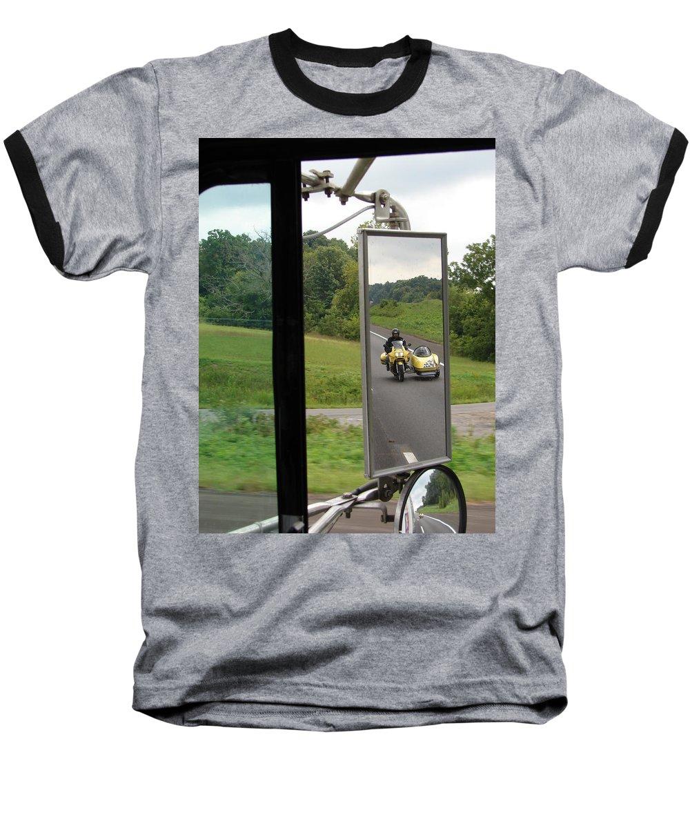 Truck Baseball T-Shirt featuring the photograph Side Car Framed by J R  Seymour