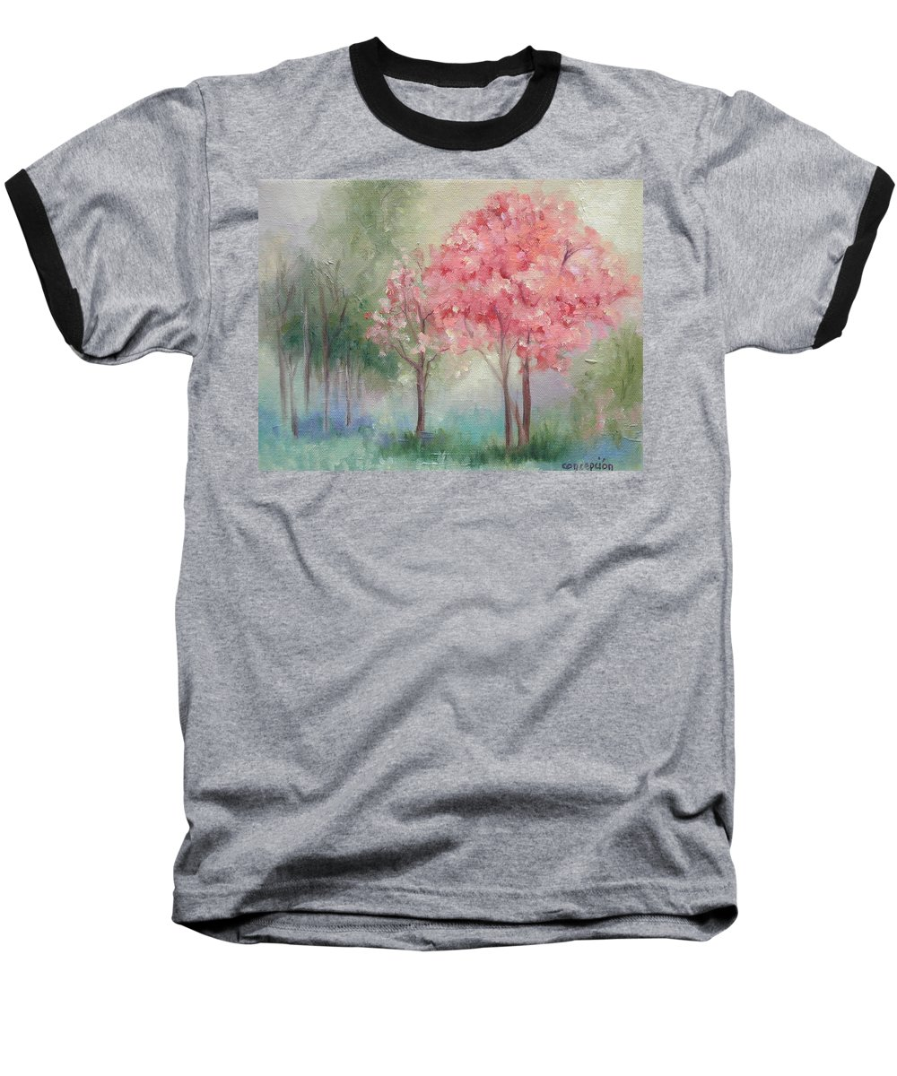 Spring Baseball T-Shirt featuring the painting Sign Of Spring by Ginger Concepcion