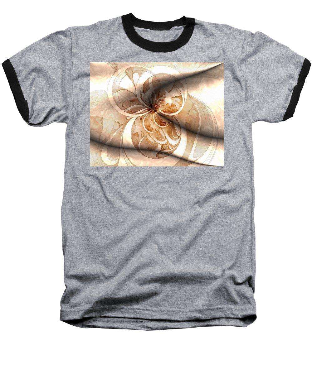 Digital Art Baseball T-Shirt featuring the digital art Silk by Amanda Moore