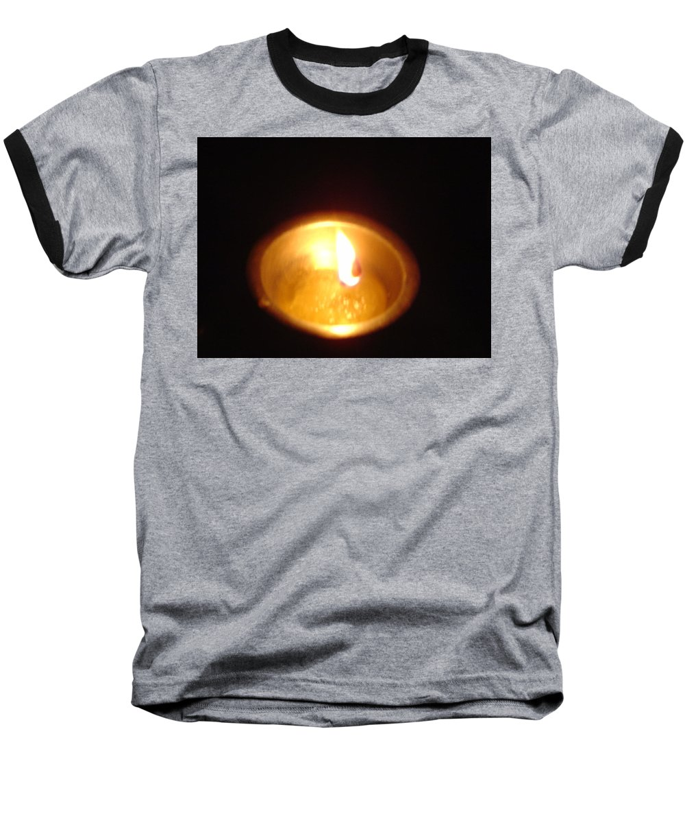 Indian Baseball T-Shirt featuring the photograph Silver Lamp by Usha Shantharam