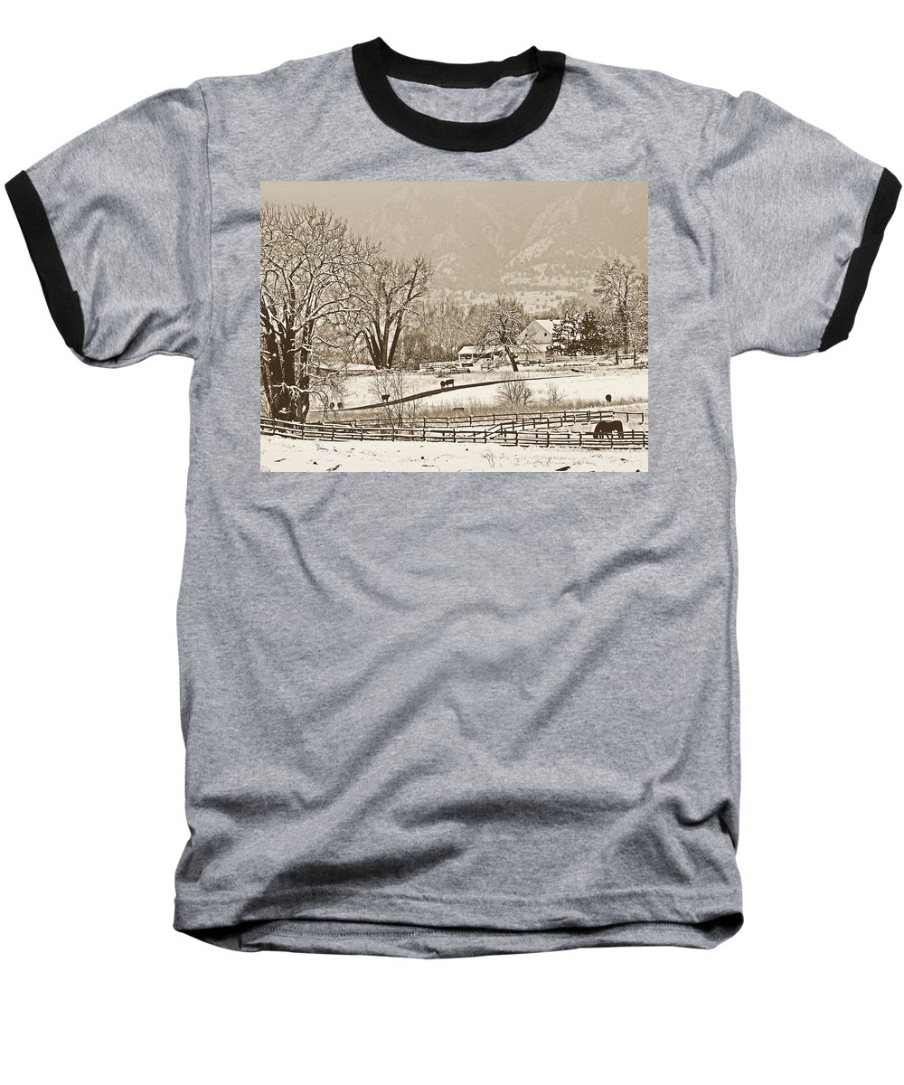 Landscape Baseball T-Shirt featuring the photograph Simpler Times by Marilyn Hunt