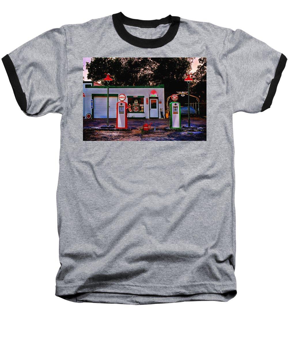 Gas Station Baseball T-Shirt featuring the photograph Sinclair by Steve Karol