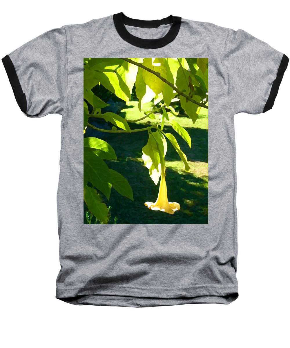 Spring Baseball T-Shirt featuring the painting Single Angel's Trumpet by Amy Vangsgard