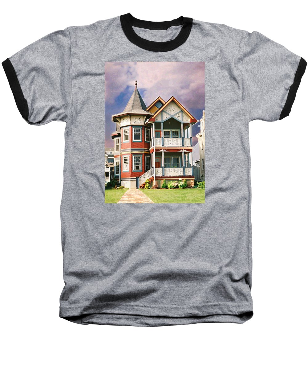Landscape Baseball T-Shirt featuring the photograph Sisters Panel Two Of Triptych by Steve Karol
