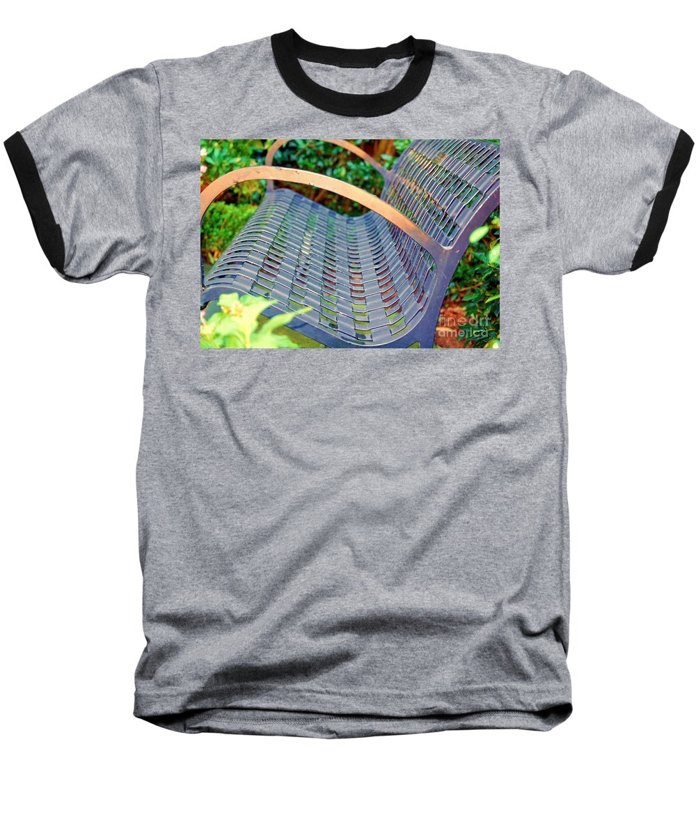 Bench Baseball T-Shirt featuring the photograph Sitting On A Park Bench by Debbi Granruth