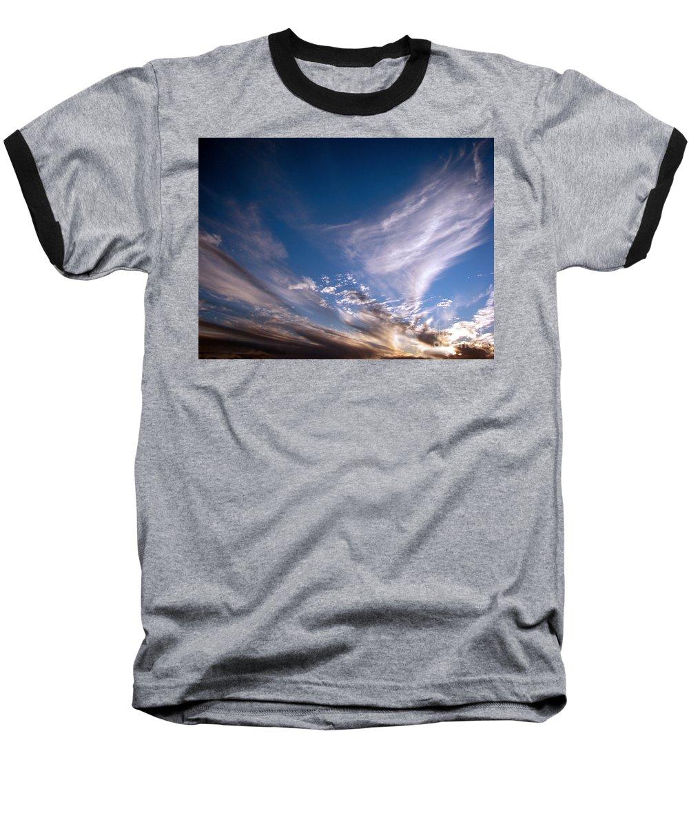 Skies Baseball T-Shirt featuring the photograph Sky by Amanda Barcon