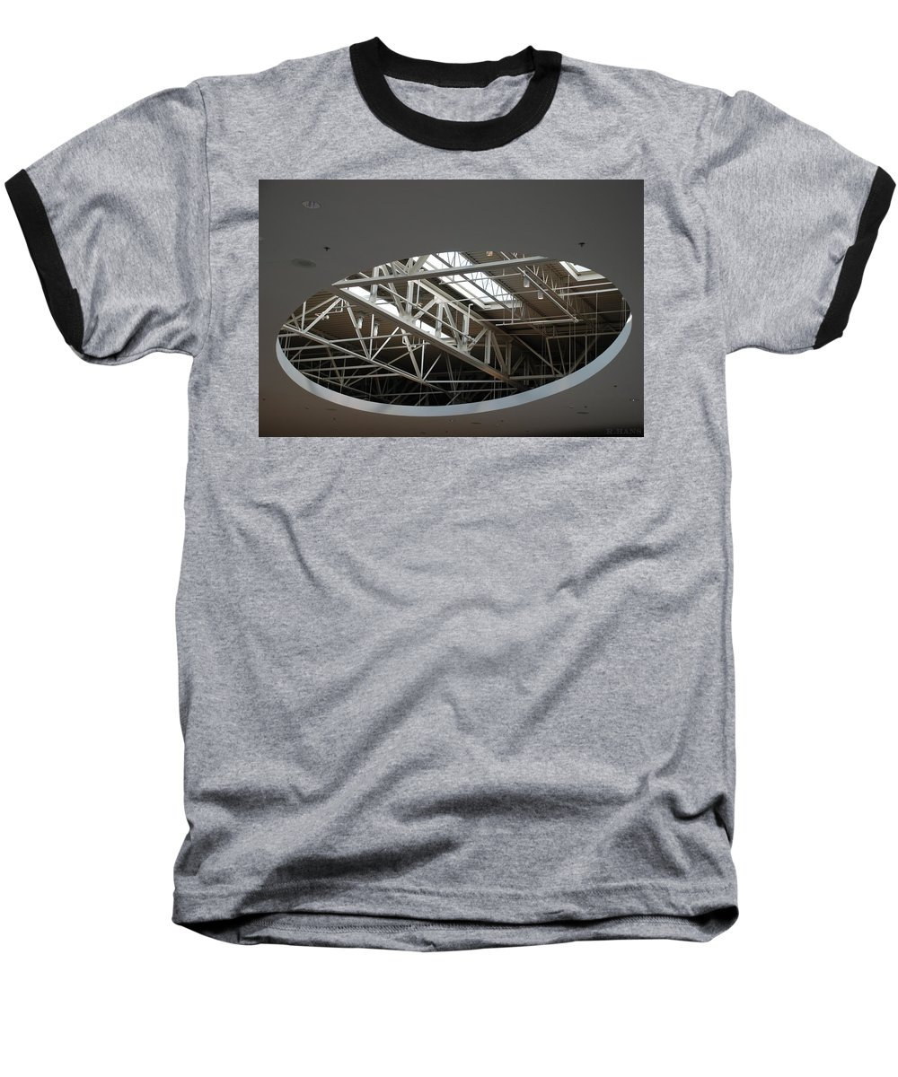 Ceiling Baseball T-Shirt featuring the photograph Skylight Gurders by Rob Hans