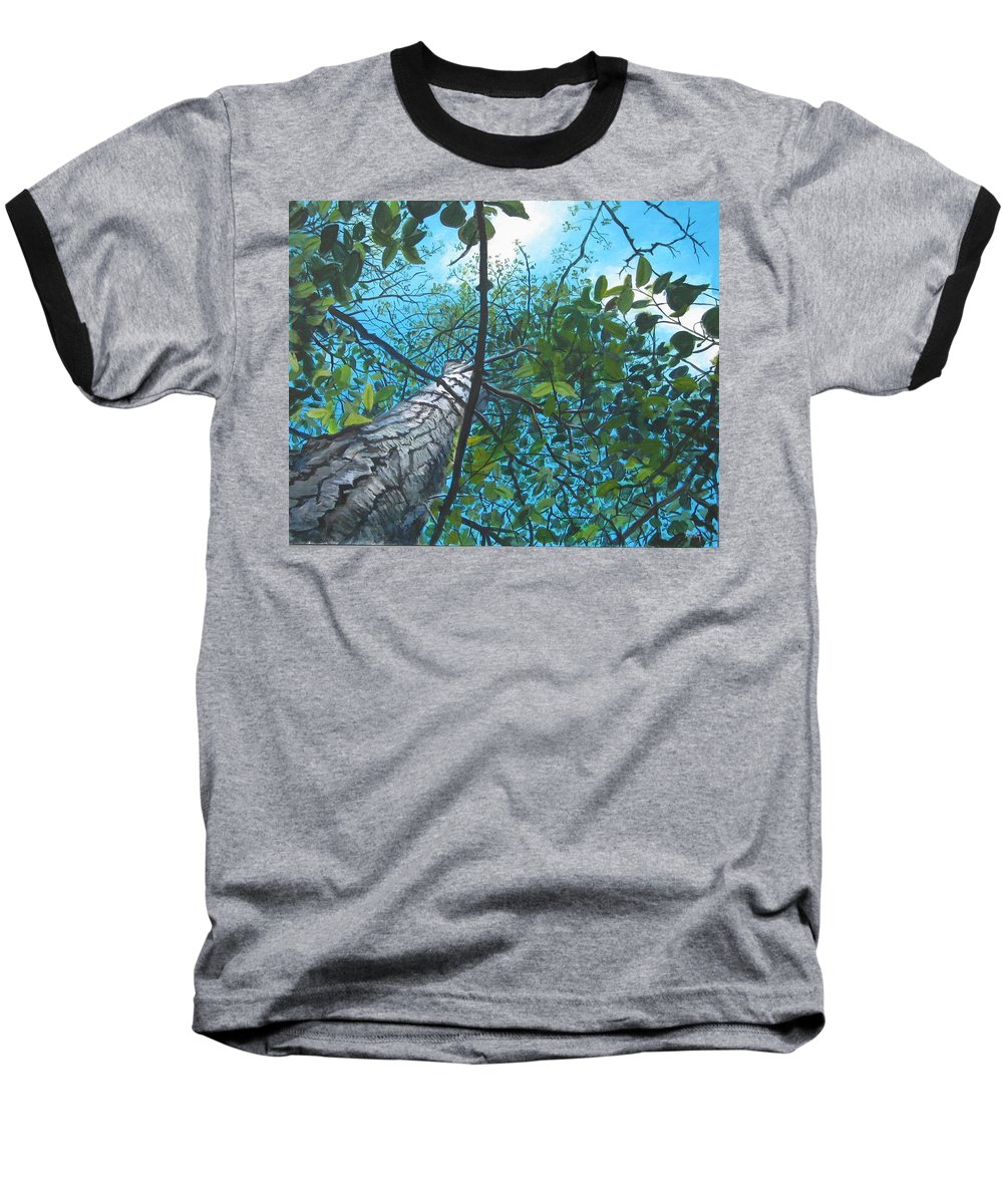 Landscape Baseball T-Shirt featuring the painting Skyward by William Brody