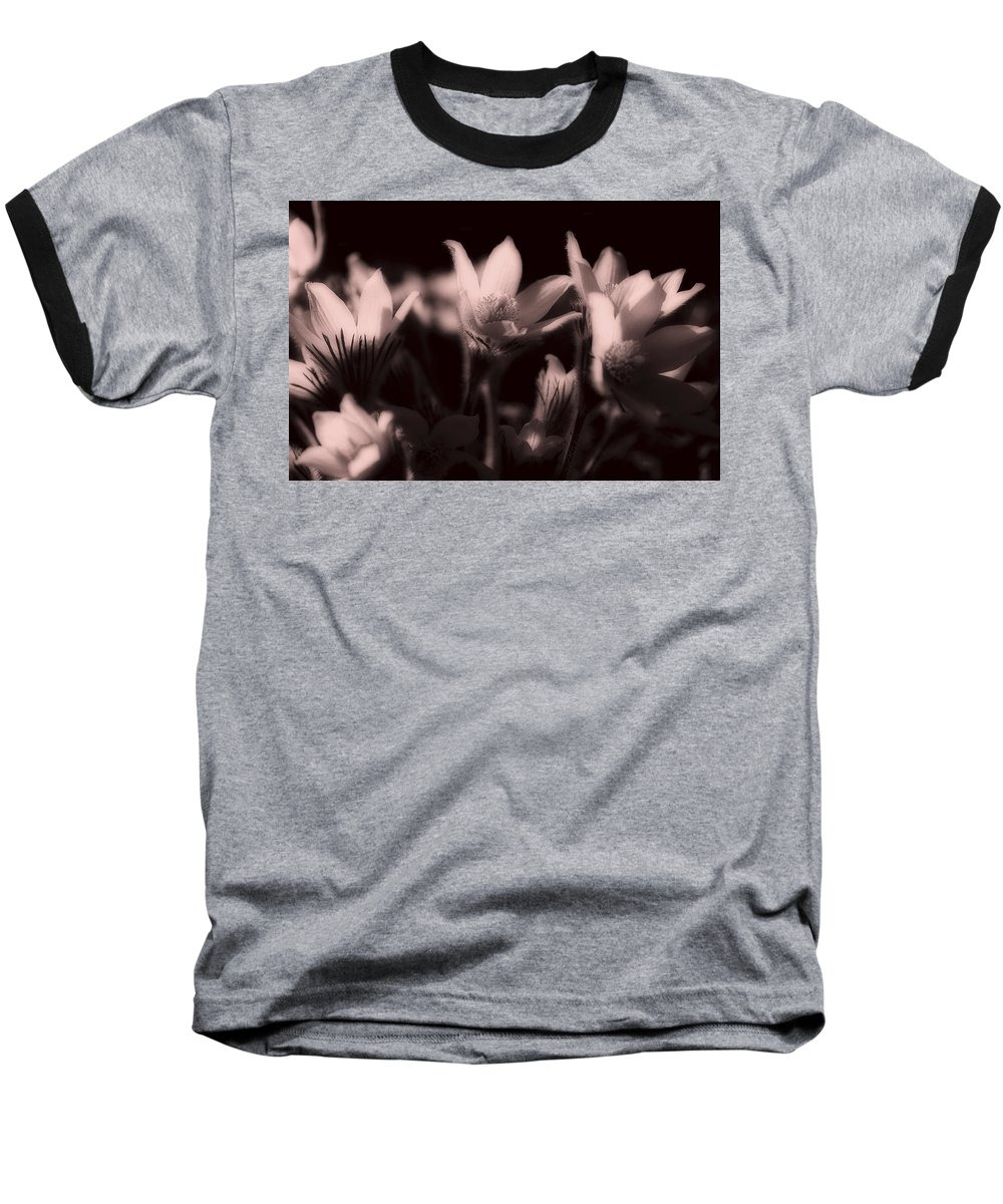 Flowers Baseball T-Shirt featuring the photograph Sleepy Flowers 2 by Marilyn Hunt
