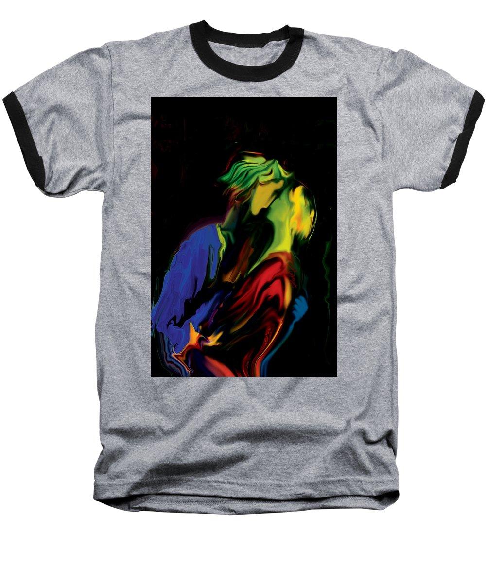 Black Baseball T-Shirt featuring the digital art Slow Dance by Rabi Khan