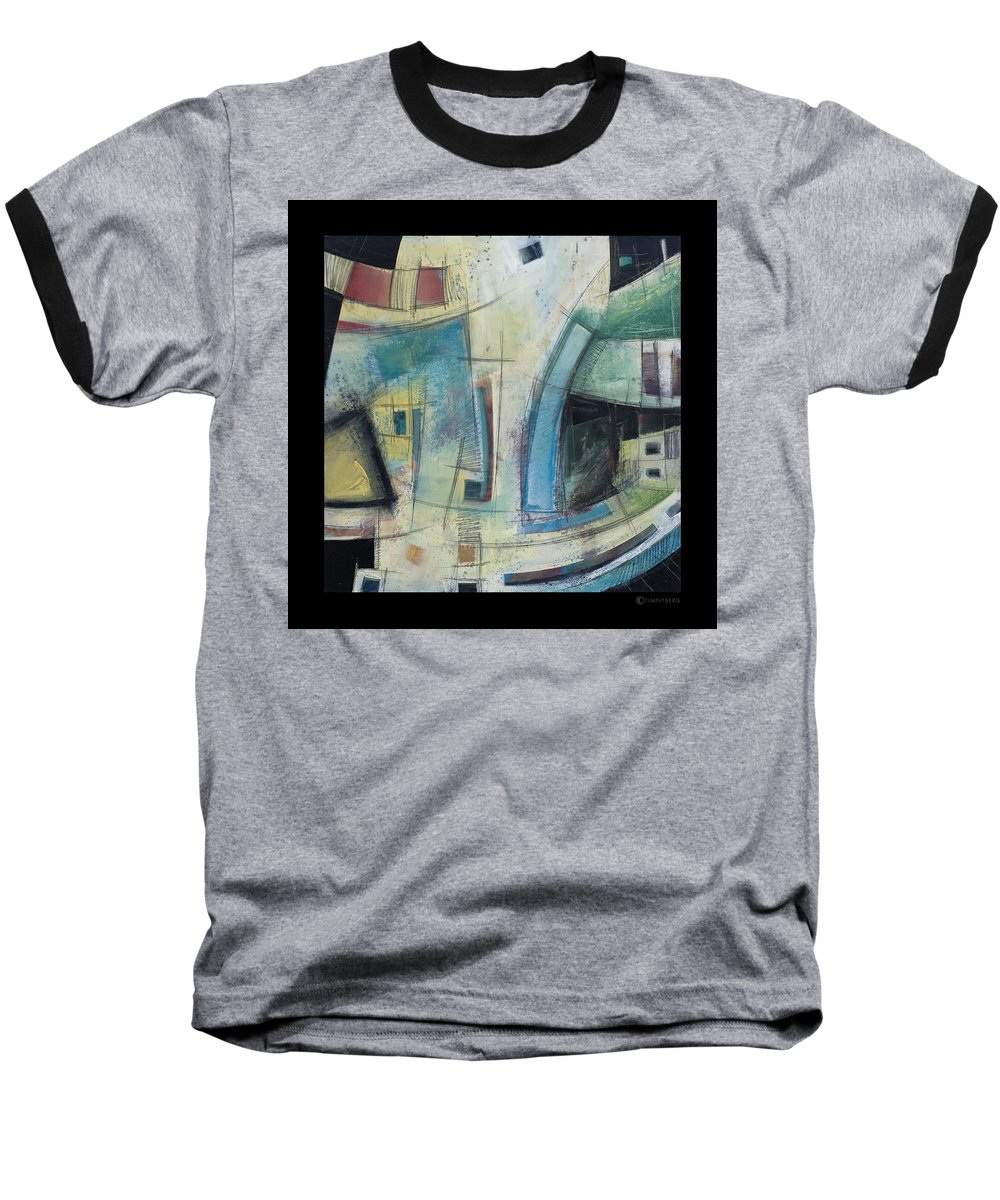 Abstract Baseball T-Shirt featuring the painting Small Town Blues by Tim Nyberg