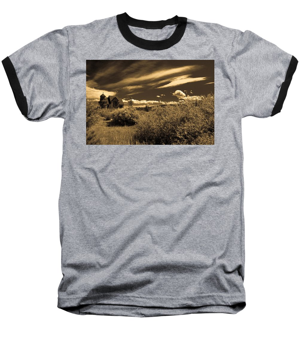 Church Baseball T-Shirt featuring the photograph Small Town Church by Marilyn Hunt