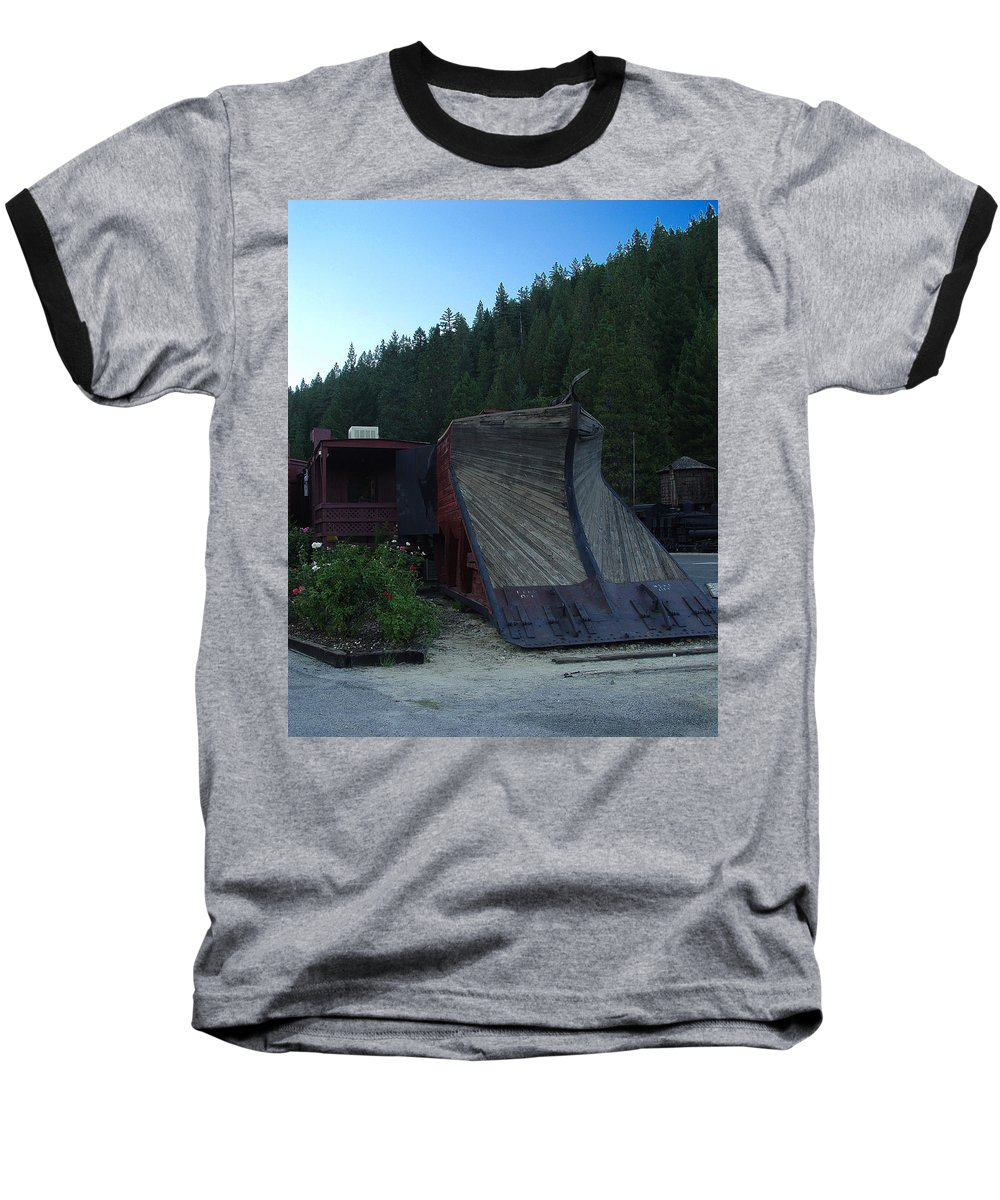 Train Baseball T-Shirt featuring the photograph Snow Plow by Peter Piatt