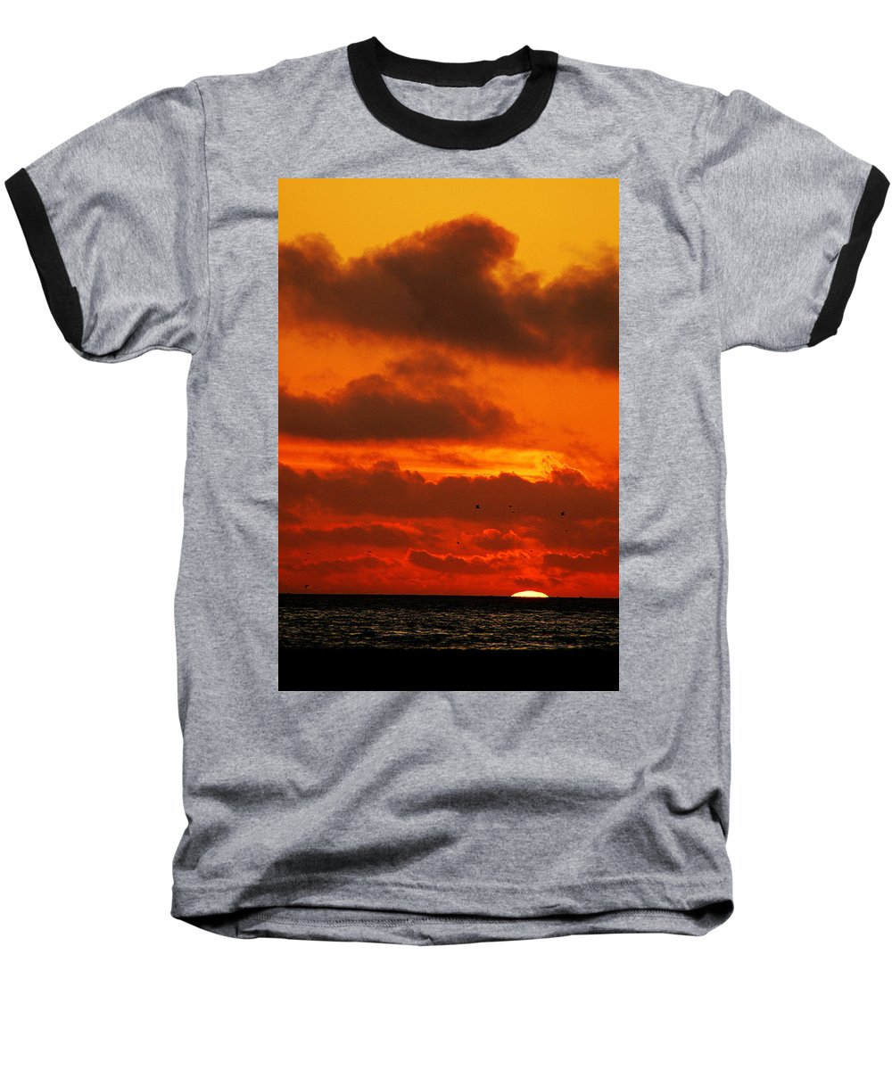 Clay Baseball T-Shirt featuring the photograph Socal Sunset by Clayton Bruster