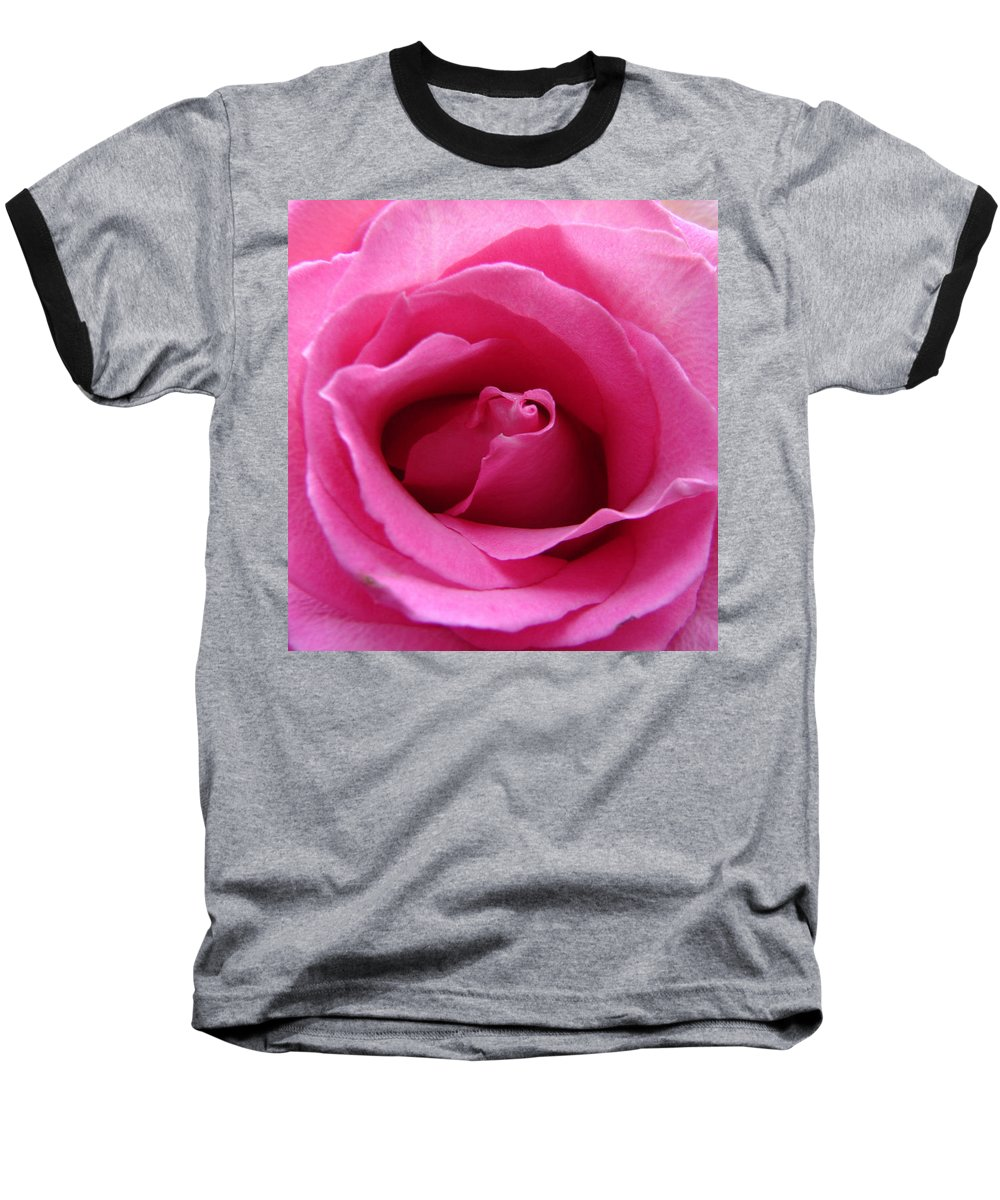 Rose Pink Pedals Baseball T-Shirt featuring the photograph Soft And Pink by Luciana Seymour