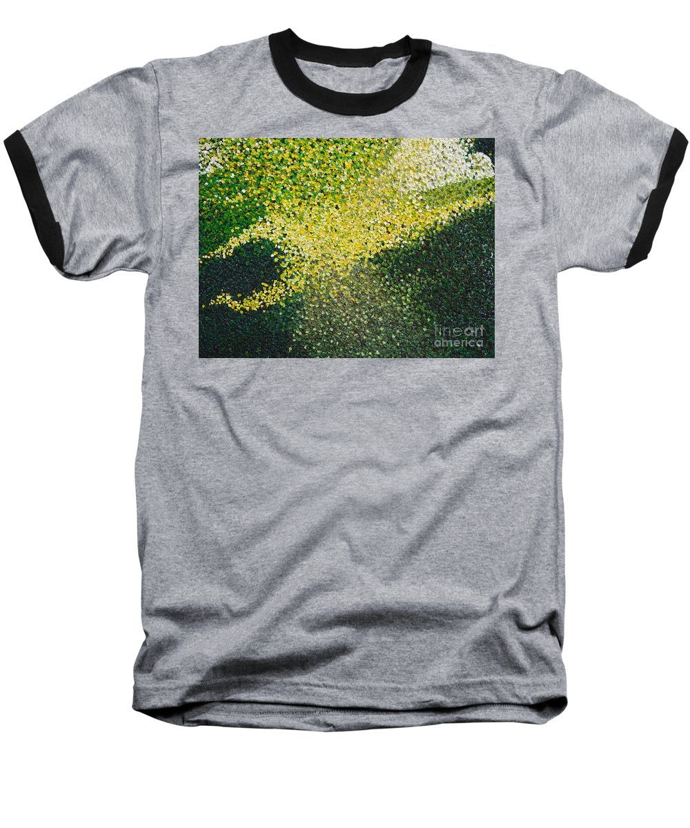 Abstract Baseball T-Shirt featuring the painting Soft Green Light by Dean Triolo