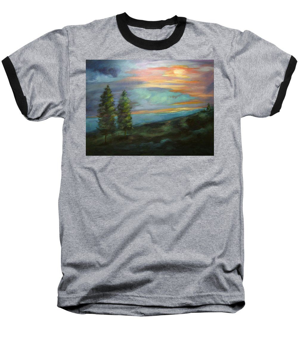 Landscape Baseball T-Shirt featuring the painting Soledad by Ginger Concepcion