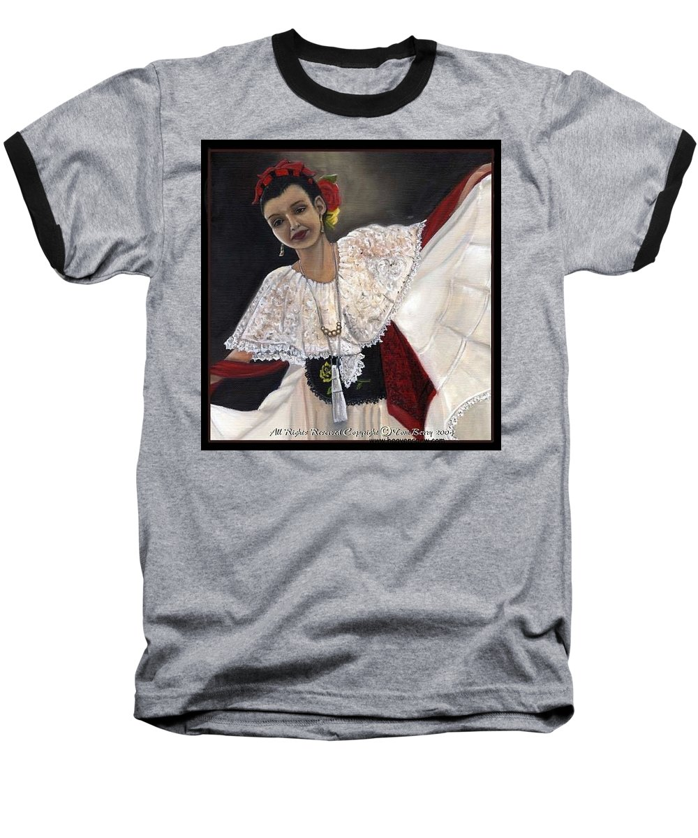 Baseball T-Shirt featuring the painting Solita by Toni Berry
