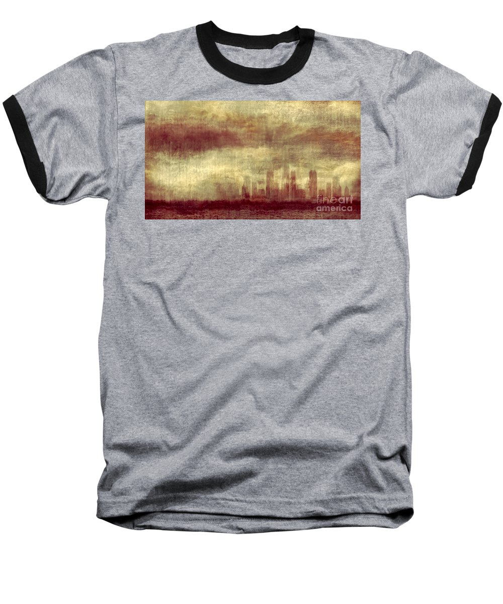 Clouds Baseball T-Shirt featuring the photograph Someone To Hold You Beneath Darkened Sky by Dana DiPasquale